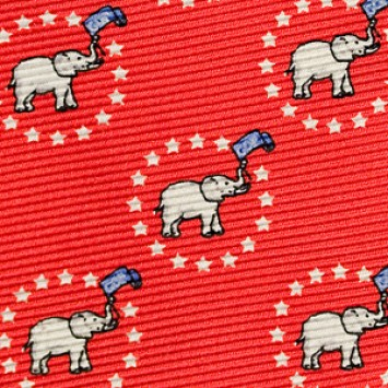 Elephant with Stars Bow